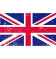 shabbritish flag flag gb grunge style vector image