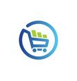 shopping cart basket buy online logo vector image vector image