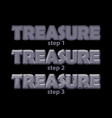 stone treasure inscription in 3 steps drawing vector image vector image
