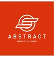 Technology abstract brand logo sign into vector image vector image
