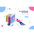 tutorial search e-learning banner vector image