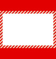 warning sign red and white stripes frame vector image vector image