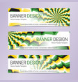 web banner design on optical illusion background vector image vector image