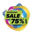 weekend sale badge vector image vector image