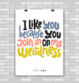 weird and beautiful poster template with hand vector image vector image