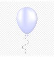 white balloon on a transparent background vector image vector image
