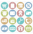 white icons shopping vector image vector image