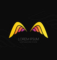 wing logo colorful emblem in simple style vector image vector image