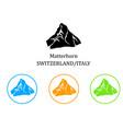 with the beautiful matterhorn mountain vector image