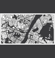 wuhan china city map in black and white color in vector image vector image