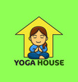 yoga house good for yoga logo and badge fun vector image