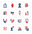 Set color icons of elections vector image