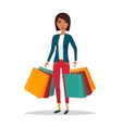 Woman with shopping bags Shop sale vector image