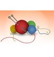 Balls of wool vector image