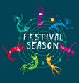 festival party poster template vector image