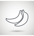 banana drawing isolated icon design vector image
