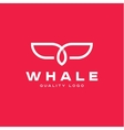 Fin whale abstract sign icon logo into flat vector image