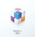 3D Cube pink blue orange Purple color vector image