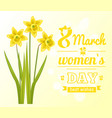 8 march womens day poster best wish greeting card vector image vector image