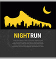 abstract poster - running sport shoe and vector image vector image