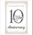 anniversary retro vintage design celebrating 10 vector image vector image