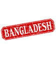 Bangladesh red square grunge retro style sign vector image vector image
