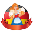 Bavarian girl with beer vector image vector image