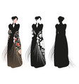beautiful woman dressed in 19th century style vector image vector image