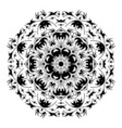 black and white ormament vector image vector image