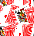 Blackjack cards in a seamless pattern vector image