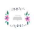 botanical text circle flat color template vector image vector image