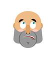 brutal man surprising emoji men face astonished vector image vector image