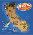 california map of animal wildlife vector image