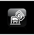 car parking icon vector image vector image