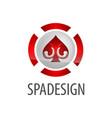 circle spade icon logo concept design symbol vector image