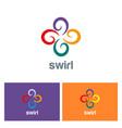 circle swirl color logo vector image