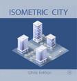 city set modern skyscraper vector image vector image