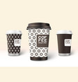 coffee cup template for branding and design vector image