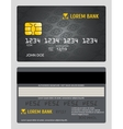 Commercial bank credit card isolated sales model vector image vector image