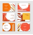 Cosmetic and beauty business cards set vector image vector image