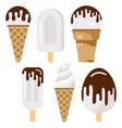 creamy ice cream on a wooden stick vector image