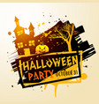 creepy halloween party celebration background vector image vector image