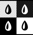 drop icon isolated on black white and transparent vector image vector image