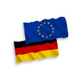 flags of european union and germany on a white vector image
