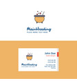 flat cooking pot logo and visiting card template vector image vector image