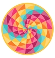Fortune wheel with abstract geometric pattern vector image