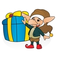 Gift from gnome vector image vector image