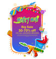 happy holi advertisement promotional backgroundd vector image