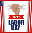 happy labor day poster festival national vector image vector image