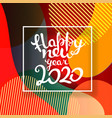 happy new 2020 eps10 design template vector image vector image